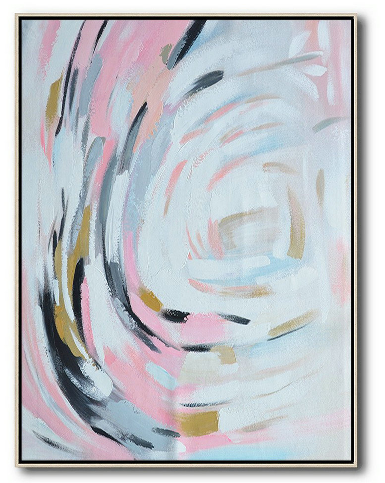 Contemporary Indian Artists,Large Contemporary Art Acrylic Painting,Oversized Square Palette Knife Abstract Floral Painting On Canvas,Abstract Art On Canvas, Modern Art,Pink,White,Grey,Black.etc