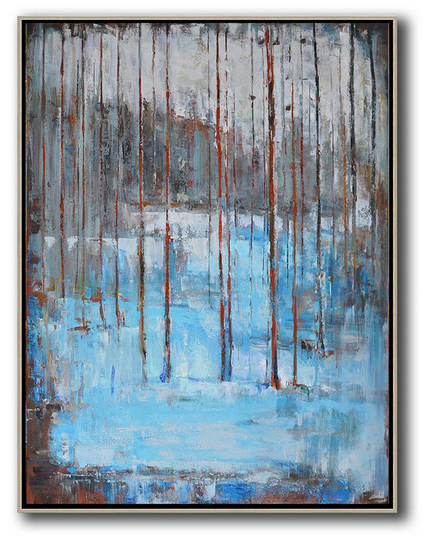 Abstract Art Images Abstract Art Pictures,Large Abstract Painting Canvas Art,Oversized Abstract Landscape Painting,Art Work,Grey,White,Blue,Red.etc