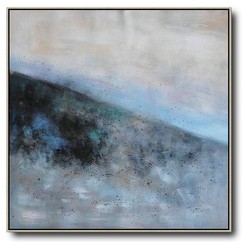 Abstract Artwork For Sale,Original Abstract Painting Extra Large Canvas Art,Oversized Abstract Landscape Painting,Canvas Paintings For Sale,Gray,Blue,Black.etc