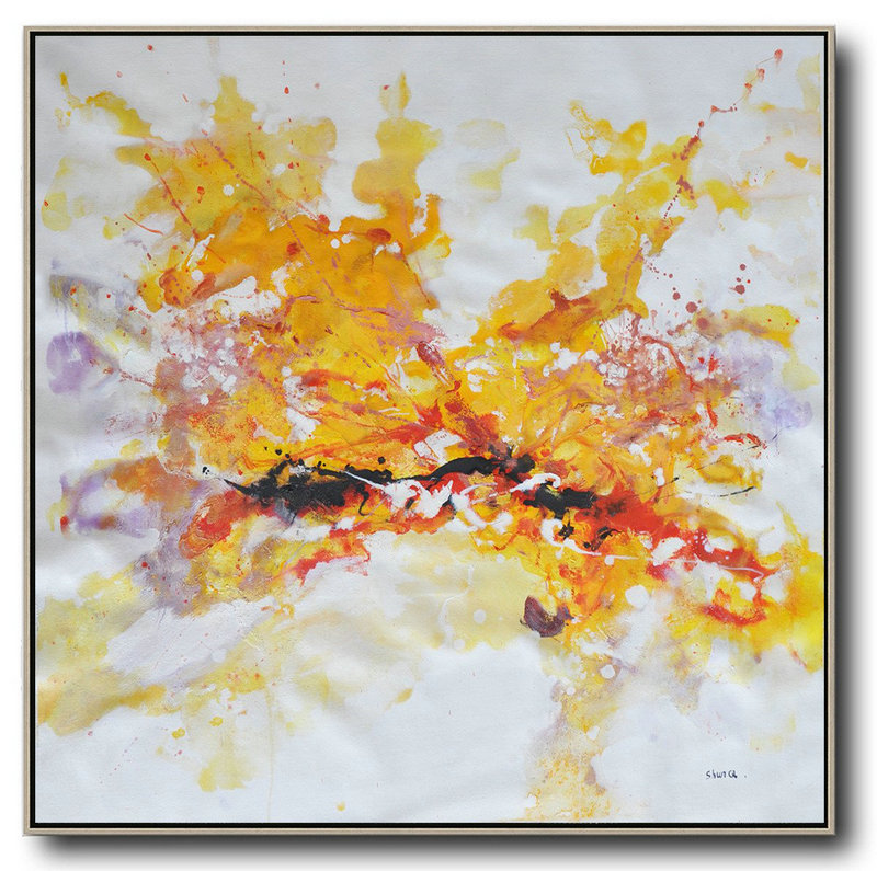 Original Artwork Abstract,Large Abstract Art,Oversized Abstract Oil Painting,Original Art Acrylic Painting,Yellow,White,Purple,Red.etc