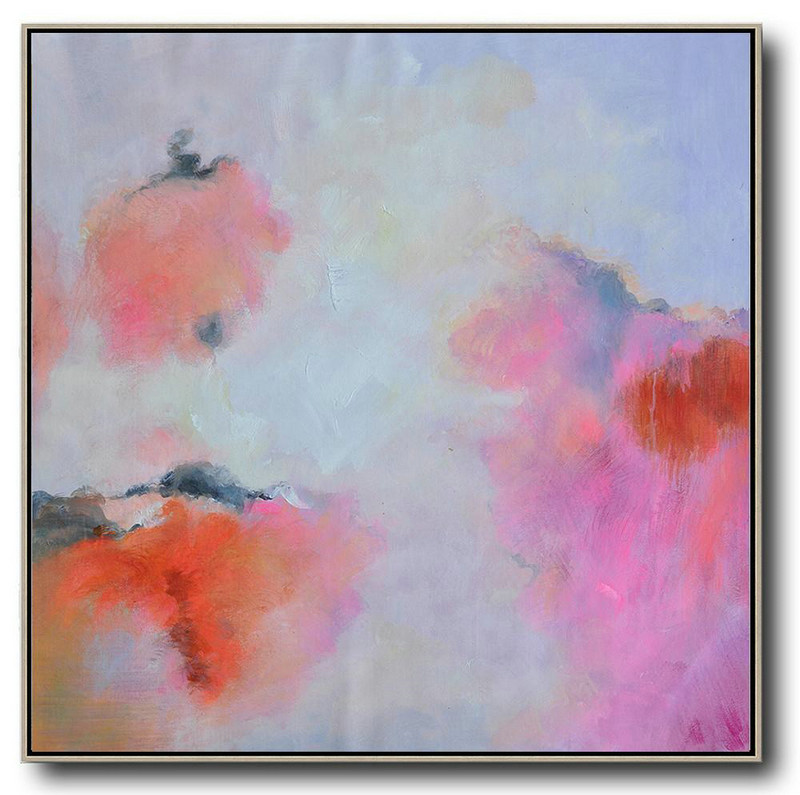 X Large Canvas Prints,Extra Large Abstract Painting On Canvas,Oversized Contemporary Art,Large Contemporary Painting,Blue,Red,Pink,Purple.etc