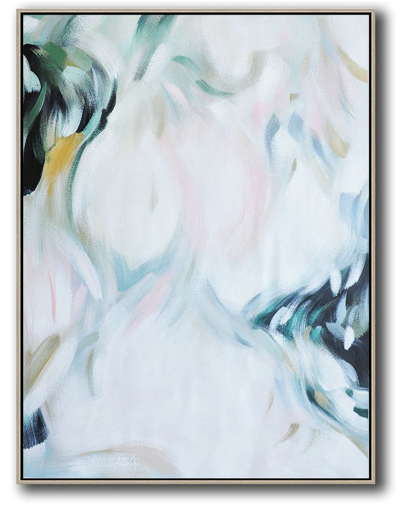 The Art,Oversized Canvas Art On Canvas,Vertical Vertical Abstract Art On Canvas,Huge Abstract Canvas Art,White,Pink,Black.etc