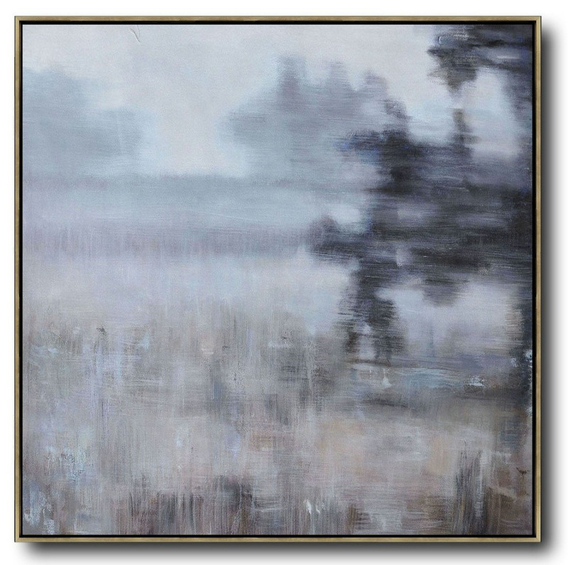 Abstract Picture Art,Original Abstract Painting Extra Large Canvas Art,Oversized Abstract Landscape Oil Painting,Canvas Artwork For Sale,Gray,Green,Black.etc