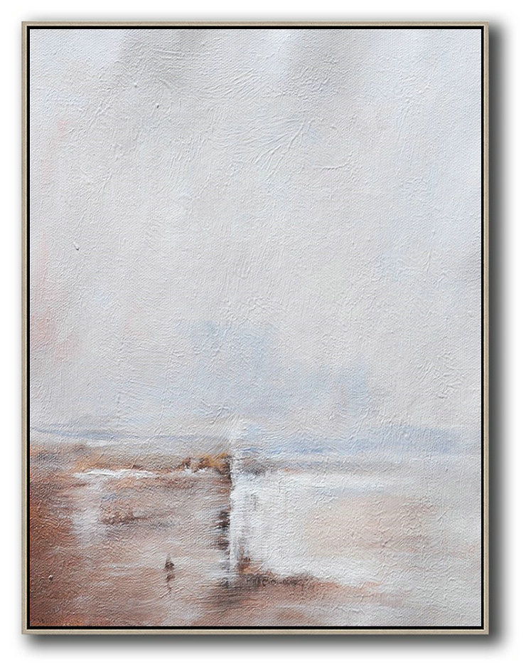 Buy Paintings Online,Abstract Painting Extra Large Canvas Art,Oversized Abstract Landscape Painting,Huge Abstract Canvas Art,Grey,White,Pink.etc