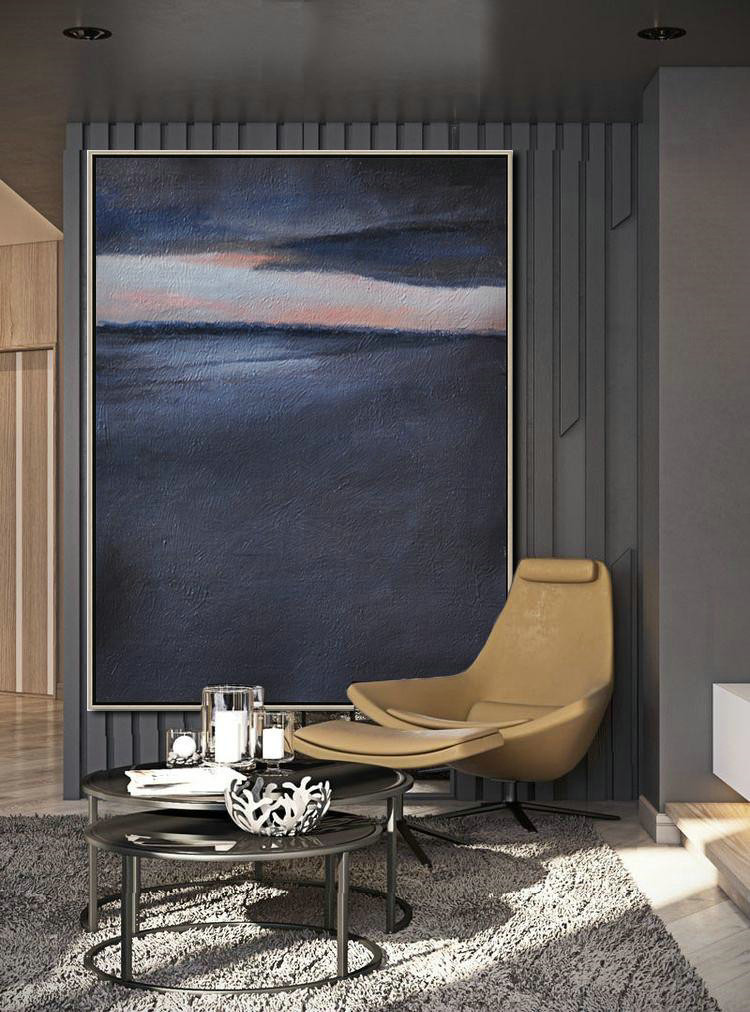 Cheap Abstract Painting,Large Modern Abstract Painting,Oversized Abstract Landscape Painting,Oversized Art,Grey,Pink,Black.etc