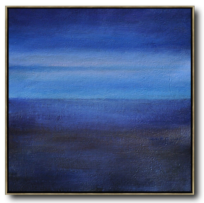 Abstract Artist,Abstract Painting Extra Large Canvas Art,Oversized Abstract Landscape Painting,Canvas Wall Art,Dark Blue,Sky Blue,Black.etc