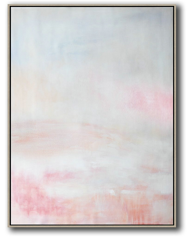 Abstract The Artist,Large Abstract Art Handmade Painting,Vertical Vertical Abstract Art On Canvas,Modern Paintings On Canvas,Grey,Pink,White.etc