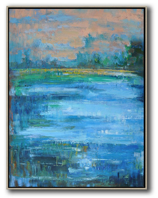 Popular Abstract Paintings,Extra Large Canvas Art,Oversized Abstract Landscape Painting,Hand Painted Original Art,Pink,Blue,Green.etc