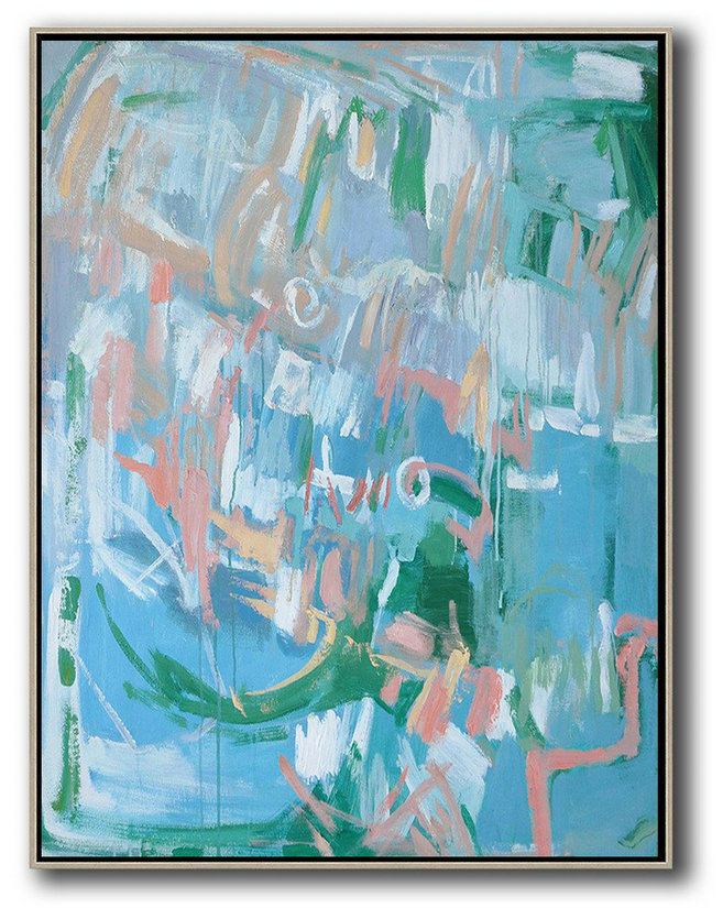 Artwork Paintings For Sale,Hand Painted Extra Large Abstract Painting,Oversized Abstract Landscape Painting,Acrylic Painting Wall Art,Blue,Pink,Green.etc