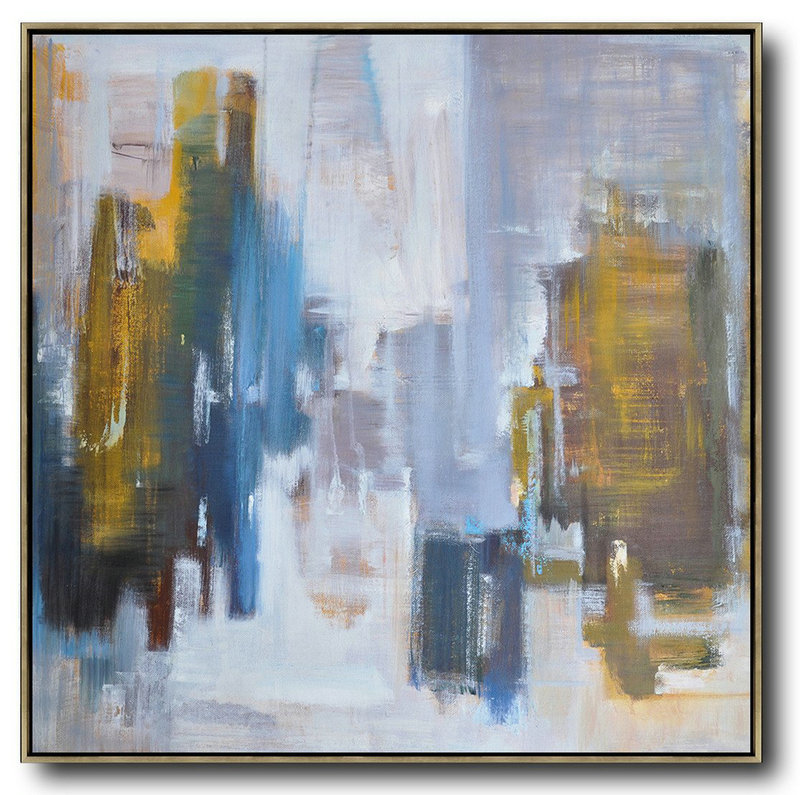 Still Life Art,Oversized Canvas Art On Canvas,Oversized Abstract Landscape Oil Painting,Extra Large Wall Art,Yellow,White,Blue.etc