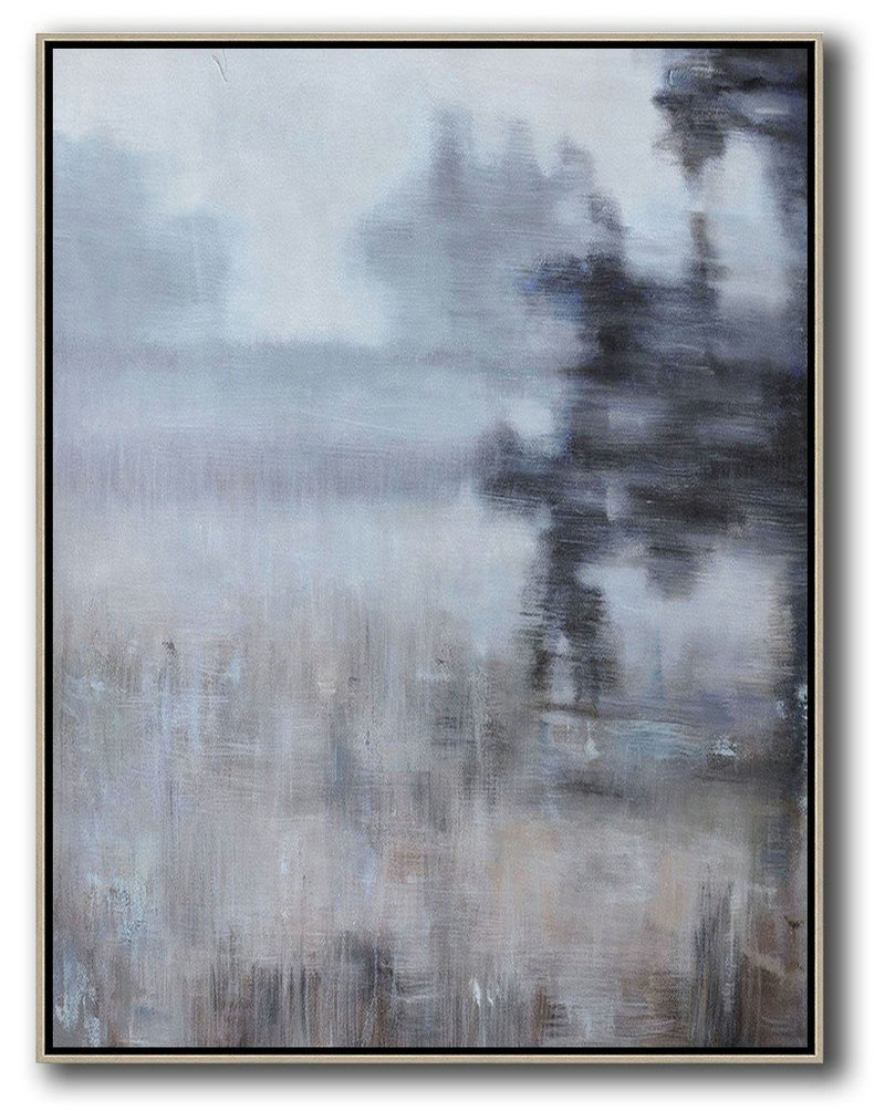 Fine Art Reproductions,Hand Painted Extra Large Abstract Painting,Oversized Abstract Landscape Painting,Contemporary Art Acrylic Painting,Brown,Grey,Black.etc