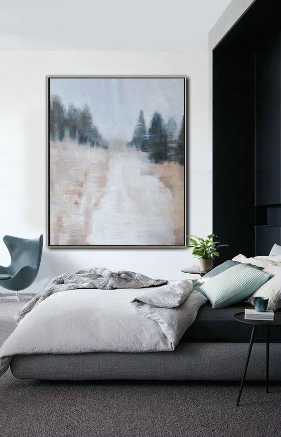 Oil Painting Wholesale,Handmade Large Contemporary Art,Oversized Abstract Landscape Painting,Modern Art,Grey,White,Dark Green,Nude.etc