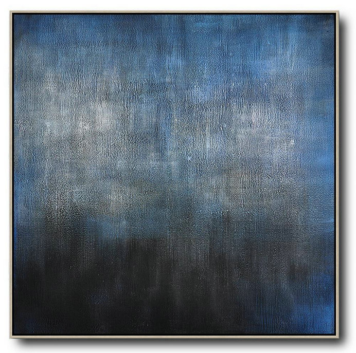 Canvas Art Gallery,Oversized Canvas Art On Canvas,Oversized Contemporary Painting,Huge Abstract Canvas Art,Black,Blue,Gray.etc