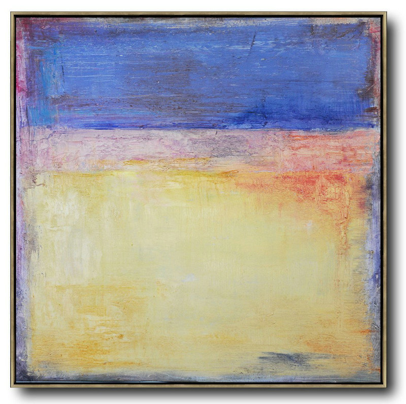 Abstract Art Ideas,Extra Large Acrylic Painting On Canvas,Oversized Contemporary Art,Hand Paint Abstract Painting,Blue,Yellow,Orange.etc