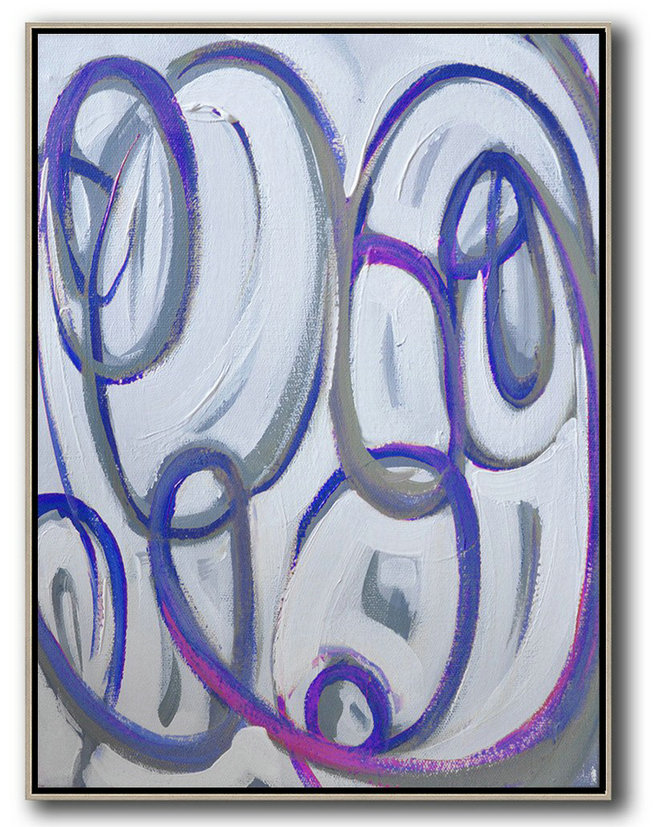 Gold And Black Abstract Art,Contemporary Art Canvas Painting,Vertical Contemporary Art,Hand-Painted Contemporary Art,Blue,White,Pink,Purple.etc