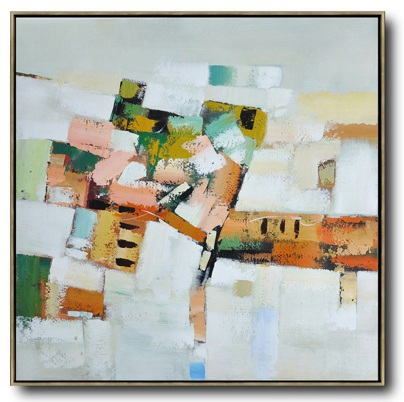 Abstract Watercolor Paintings,Extra Large Acrylic Painting On Canvas,Oversized Contemporary Art,Large Contemporary Painting,Grey,Orange,Green,Yellow.etc