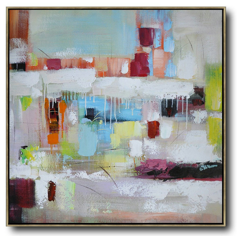 Abstract Canvas Art,Abstract Painting Extra Large Canvas Art,Oversized Contemporary Art,Modern Painting Abstract,Sky Blue,Red,White,Purple.etc