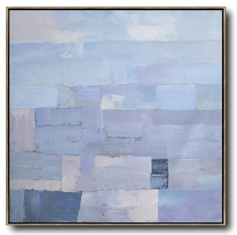 Art Auction,Extra Large Acrylic Painting On Canvas,Oversized Contemporary Art,Acrylic Painting Large Wall Art,Violet Ash,Grey,Blue.etc