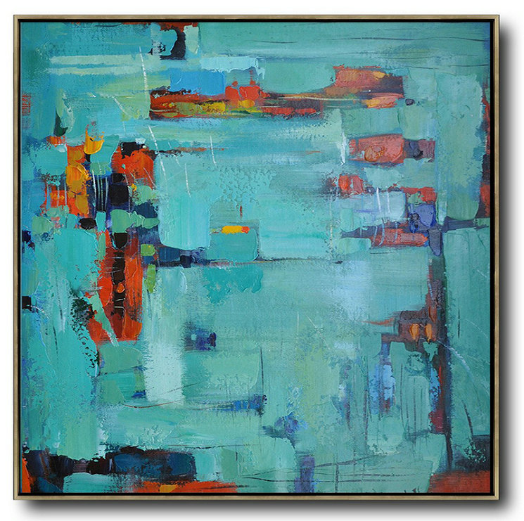 Large Oil Painting,Large Abstract Painting On Canvas,Oversized Contemporary Art,Large Contemporary Art Canvas Painting,Green,Blue,Red.etc