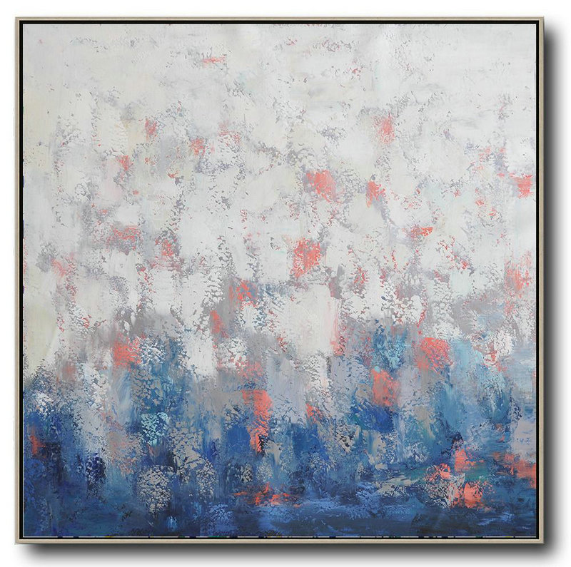 Art Dealer,Extra Large Textured Painting On Canvas,Oversized Contemporary Art,Large Oil Canvas Art,Blue,Taupe,White,Pink.etc