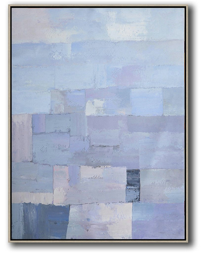 Cheap Canvas Prints For Sale,Living Room Wall Art,Vertical Palette Knife Contemporary Art,Canvas Wall Art,Purple,Blue,White.etc