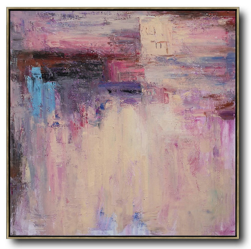 Original Abstract Painting,Extra Large Acrylic Painting On Canvas,Oversized Contemporary Art,Abstract Art Decor Large Canvas Painting,Pink,Nude,Blue,Purple.etc