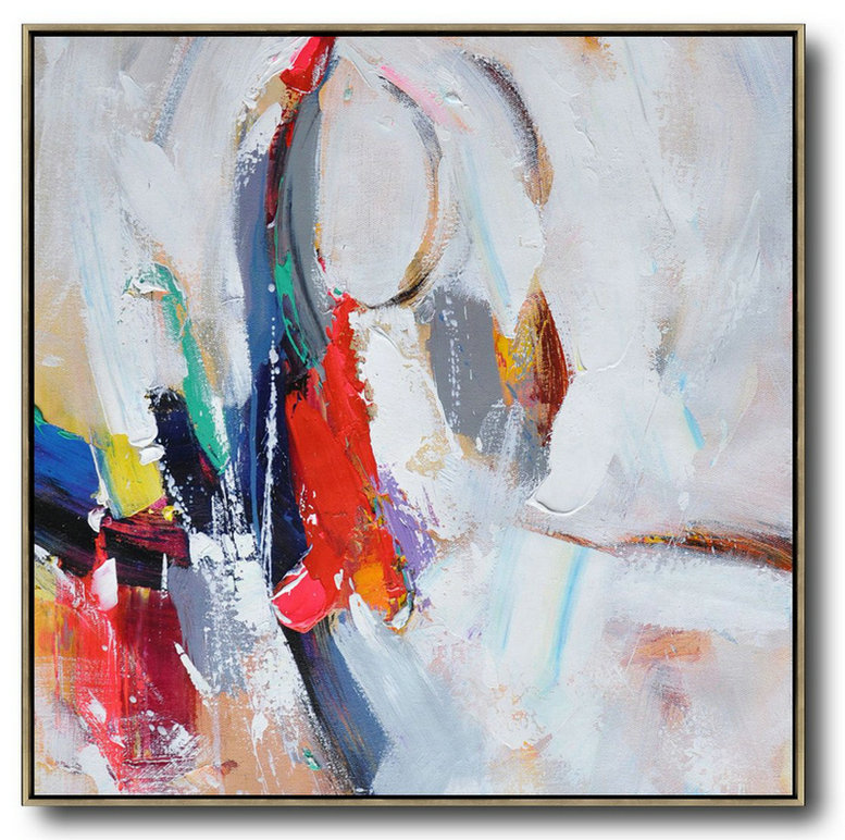 Paintings For Sale Cheap,Extra Large Canvas Art,Oversized Palette Knife Painting Contemporary Art On Canvas,Hand-Painted Canvas Art,Blue,Red,White,Yellow,Purple.etc
