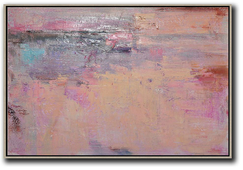 Cool Abstract Paintings,Handmade Large Contemporary Art,Oversized Horizontal Contemporary Art,Large Canvas Art,Modern Art Abstract Painting,Nude,Pink,Purple,Brown.etc