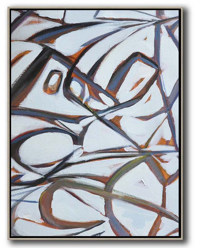 Abstract Home Art,Oversized Art,Vertical Contemporary Art,Modern Art Abstract Painting,White,Purple,Grey.etc