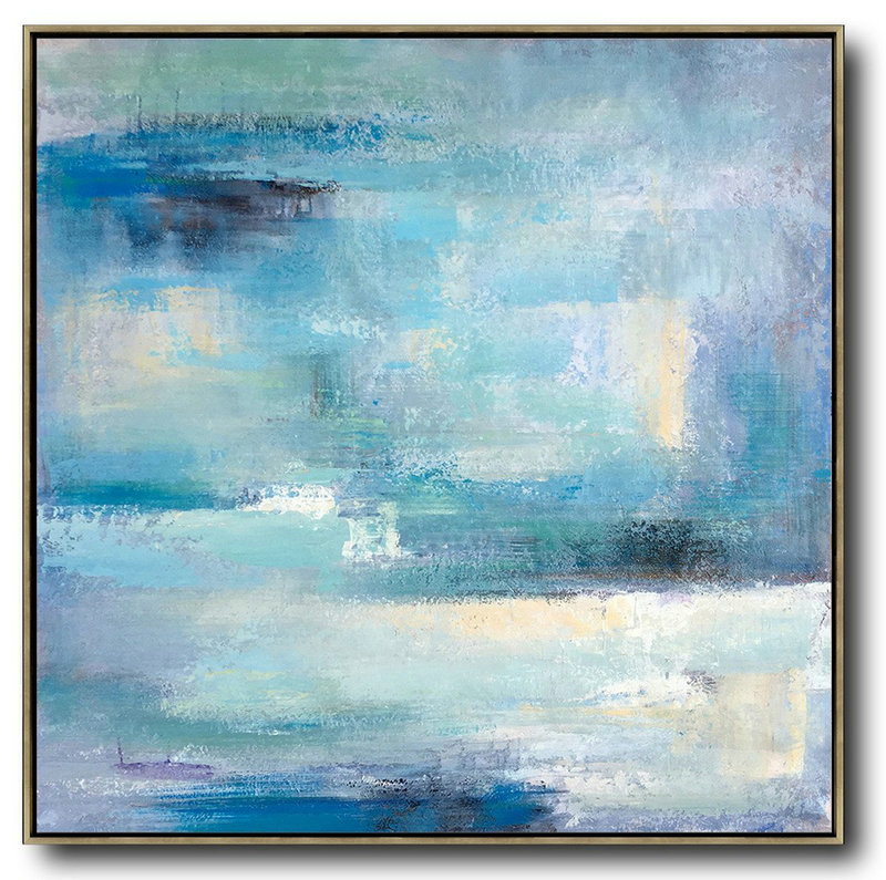Oil Painting Gallery,Extra Large Abstract Painting On Canvas,Oversized Contemporary Art,Modern Art Abstract Painting,Sky Blue,Violet,White,Nude.etc