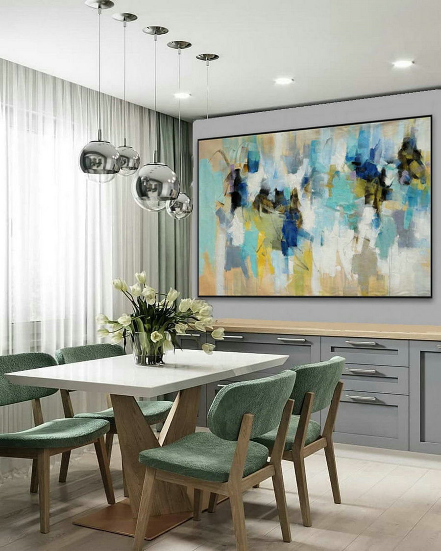 dining room shelves decor,blue and orange living room ideas,trendy wall art 2019,accent wall decor ideas,orange abstract painting,nature oil paintings on canvas,relaxing abstract art,room painting ideas bedroom,K8o6