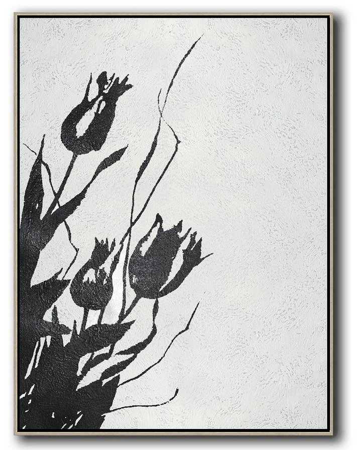 Abstract Definition,Acrylic On Canvas Abstract,Black And White Minimal Painting On Canvas - Abstract Artwork Online