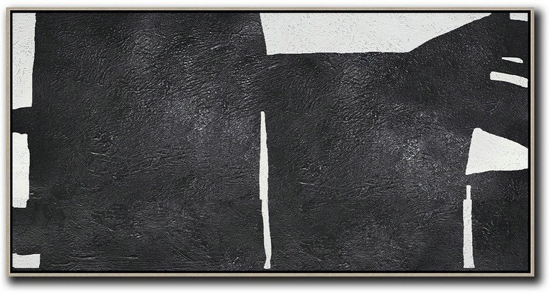 Abstract Art And Their Meaning,Huge Abstract Canvas Art,Oversized Horizontal Minimal Art On Canvas - Hand Paint Large Clean Modern Art