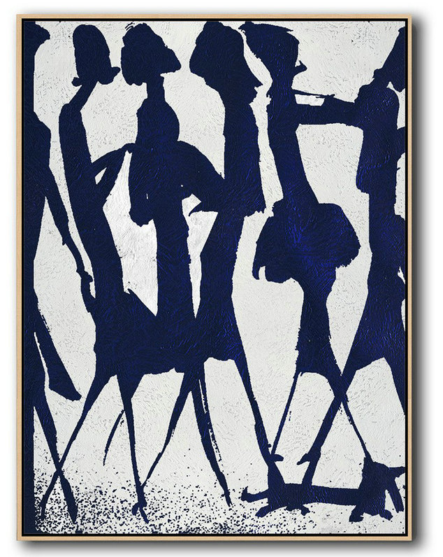 What Is Abstractionism In Art,Abstract Painting Extra Large Canvas Art,Buy Hand Painted Navy Blue Abstract Painting Online,Large Canvas Wall Art For Sale