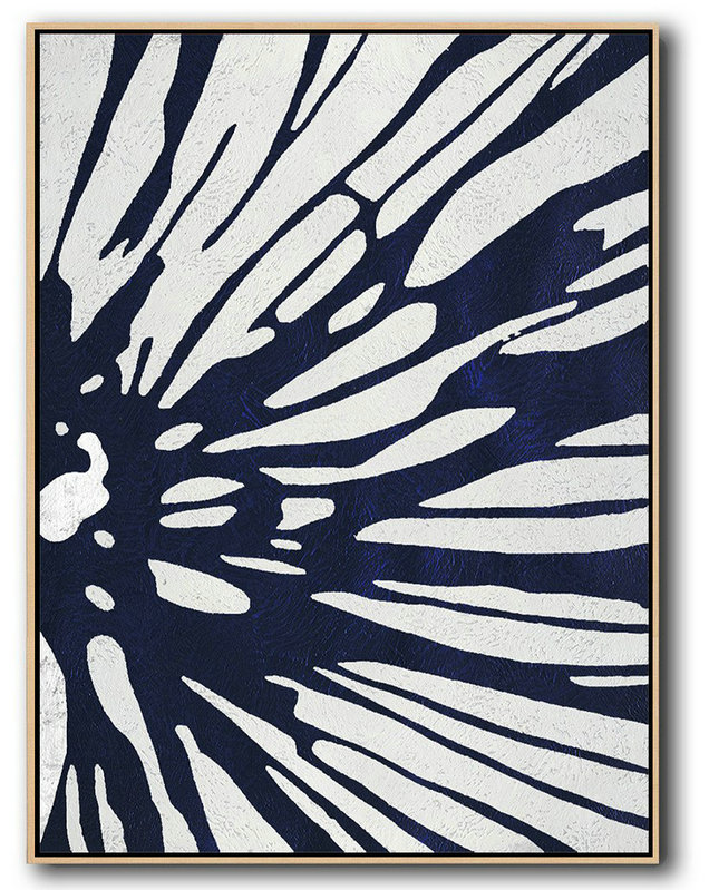 Buy Artist Canvas,Hand Paint Abstract Painting,Buy Hand Painted Navy Blue Abstract Painting Online,Modern Art