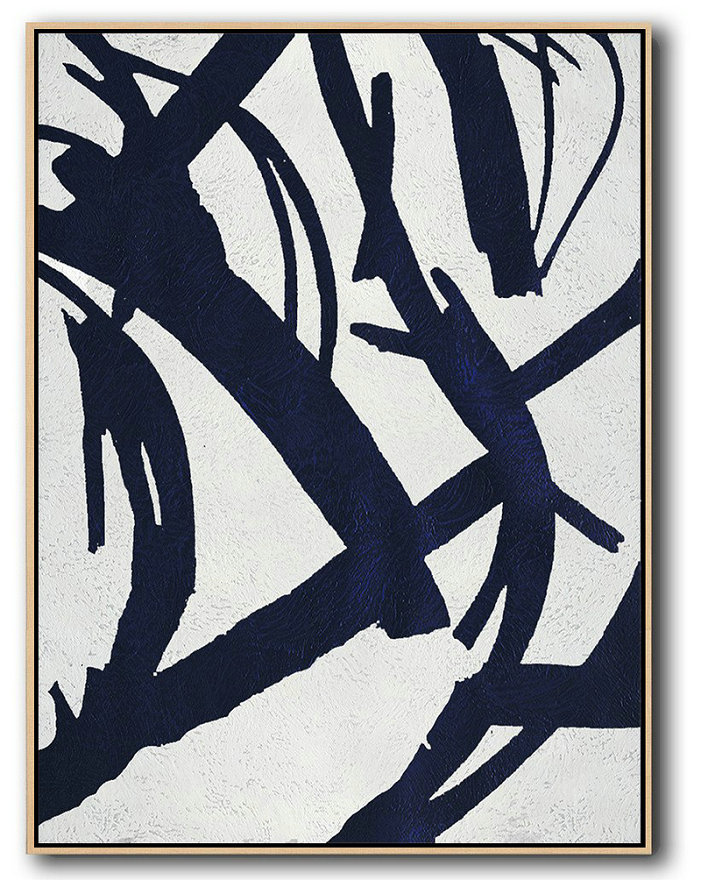 Abstract Art Theory,Abstract Painting Extra Large Canvas Art,Buy Hand Painted Navy Blue Abstract Painting Online,Extra Large Canvas Art,Handmade Acrylic Painting
