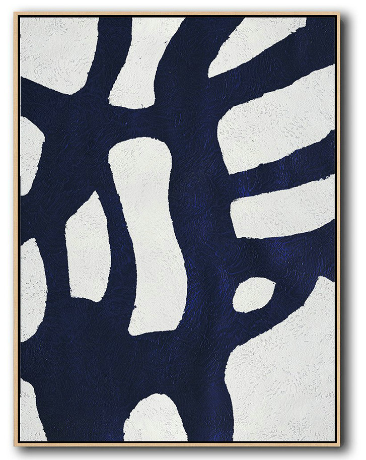 Buy Canvas For Painting Cheap,Handmade Painting Large Abstract Art,Buy Hand Painted Navy Blue Abstract Painting Online,Original Art Acrylic Painting