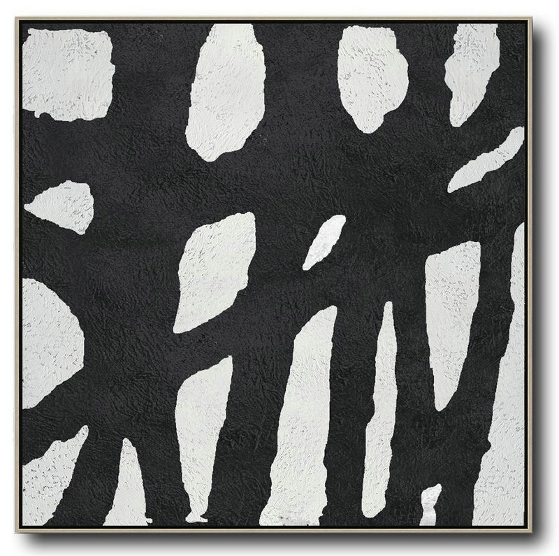 Abstract Art Is Not Art,Huge Abstract Painting On Canvas,Oversized Minimal Black And White Painting - Original Art