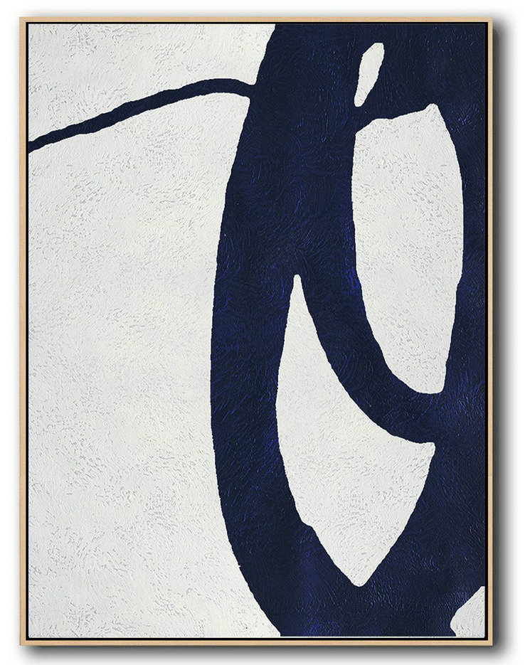 What Is Abstract Drawing,Abstract Painting Extra Large Canvas Art,Buy Hand Painted Navy Blue Abstract Painting Online,Large Living Room Wall Decor
